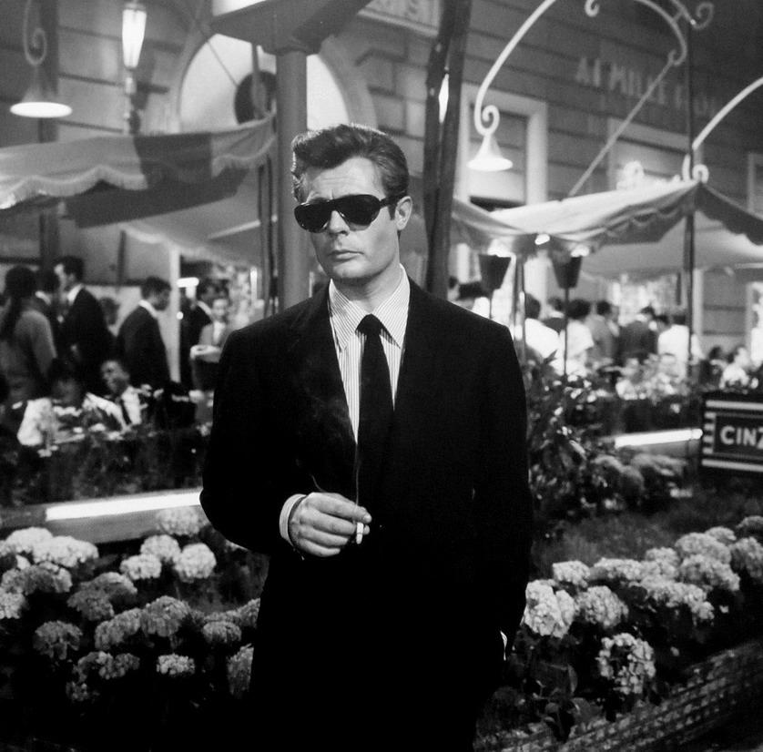 """Marcello Mastroianni in Fellini's """"La DolceVita"""""""