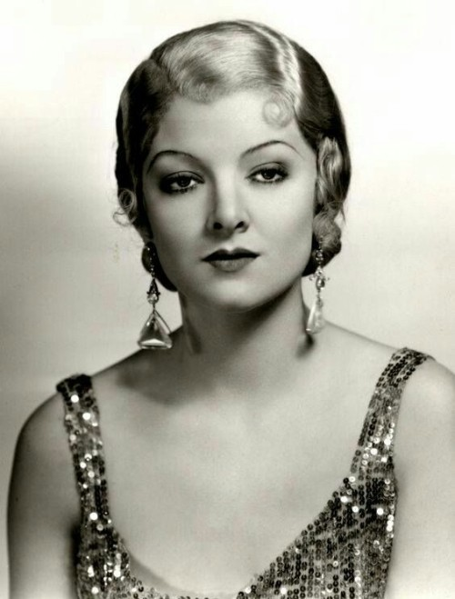 Myrna Loy as a blond, early 1930s