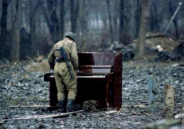 Russian soldier inChechnya
