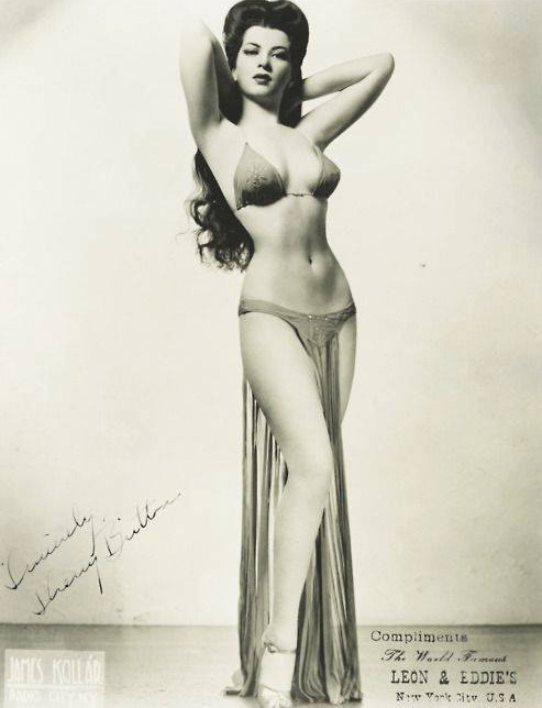 Burlesque queen Sherry Britton,1940s
