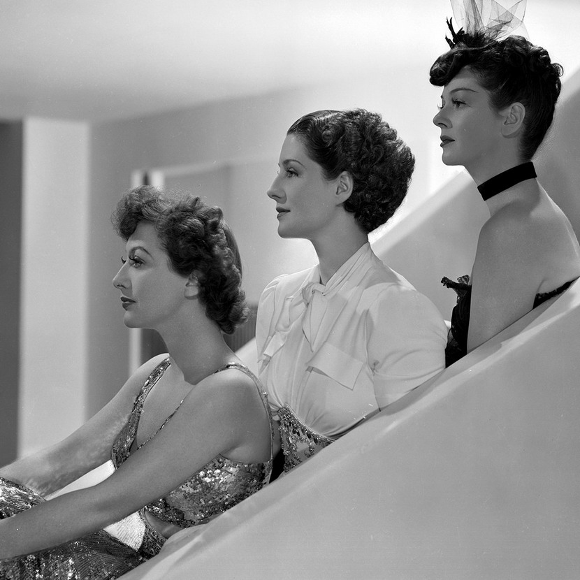 """The Women"", starring Joan Crawford, Norma Shearer, and Rosalind Russell (1939)"