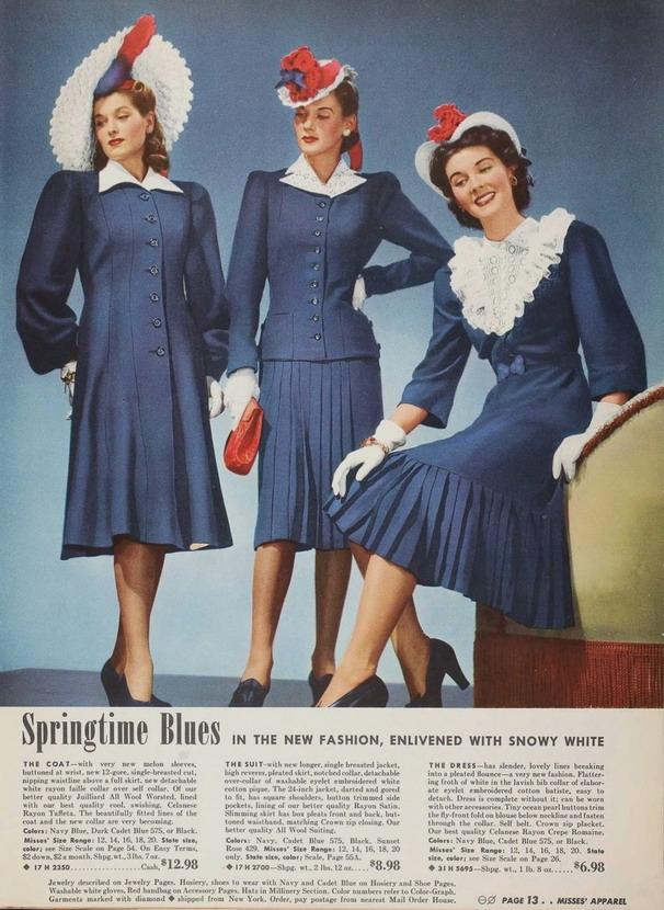 Women's dresses, circa1940