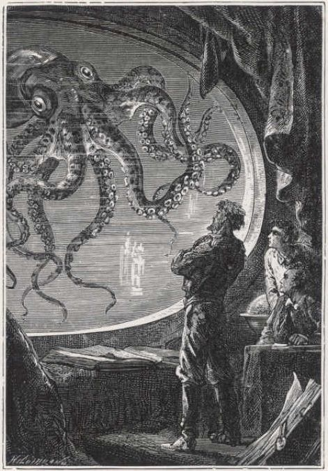 """Illustration from Jules Verne's """"20,000 Leagues Under theSea"""""""