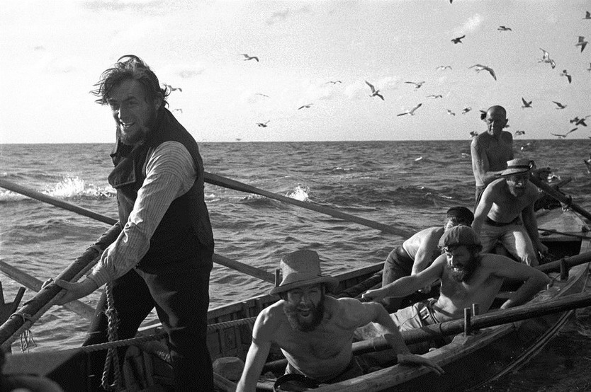 """Scene from """"Moby Dick"""" (which starred GregoryPeck)"""