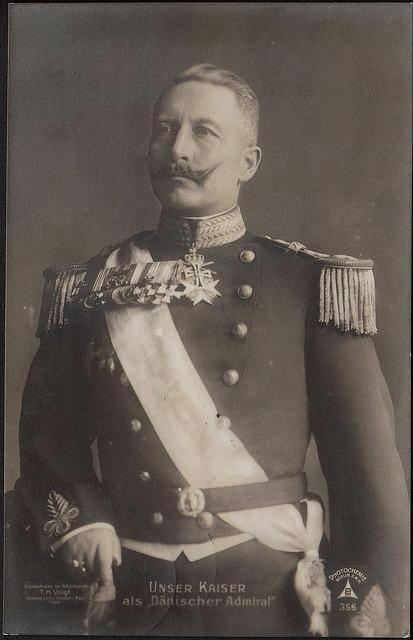 Kaiser Wilhelm II in a Danish Naval Admiraluniform