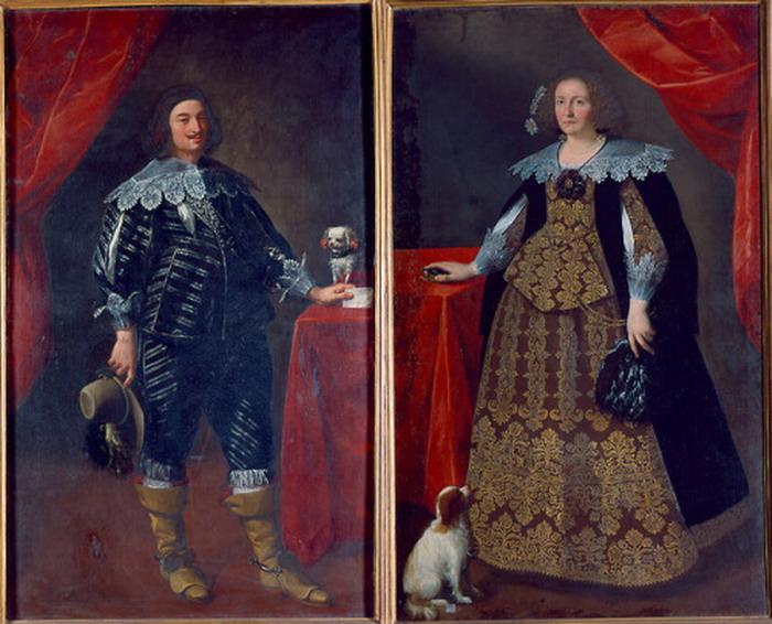 """Ceresa Carlo's """"Carlo Beccaria and Giulia Bonfanti"""", 1640"""