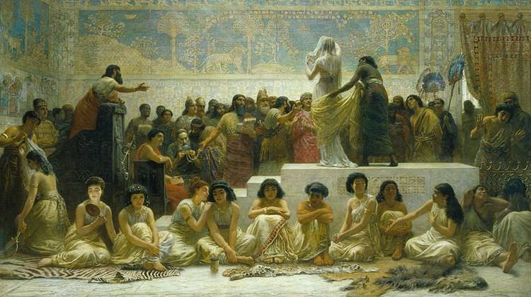"""Babylonian Marriage Market"" by Edwin Long, 1875"