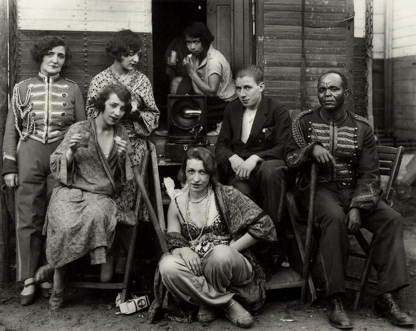 Vintage circus people