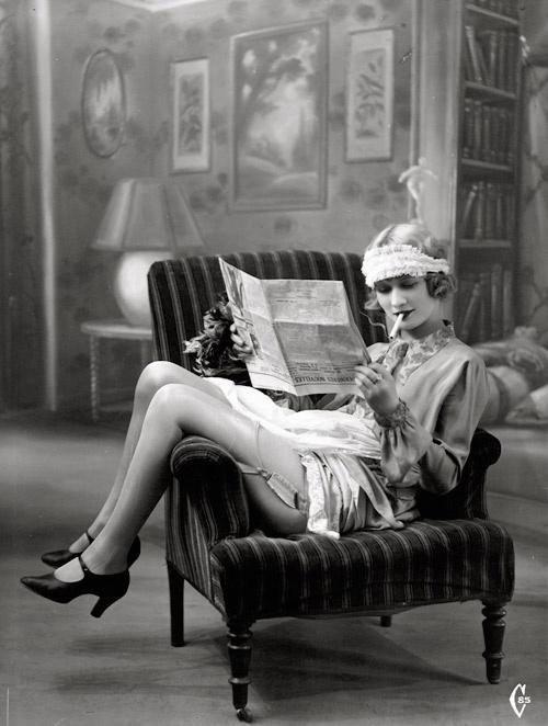 French floozie postcard, circa1920