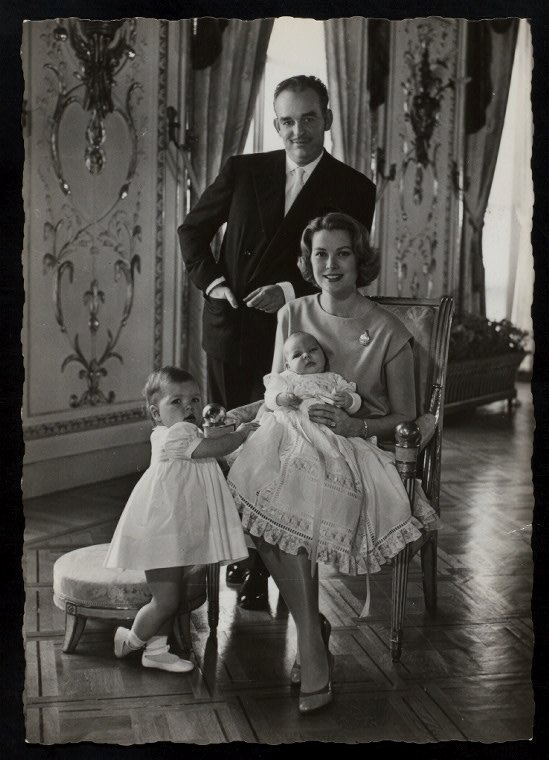 Prince Ranier and Princess Grace of Monaco (and children)
