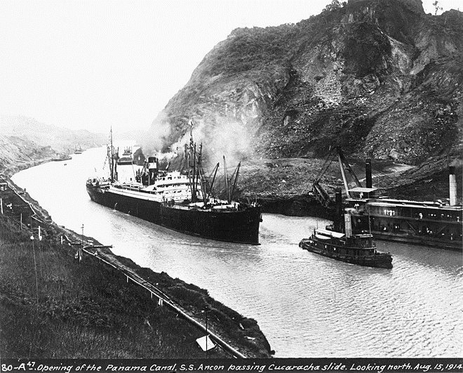 The opening of the Panama Canal, 1914