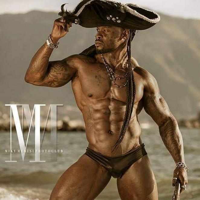 Shirtless pirate