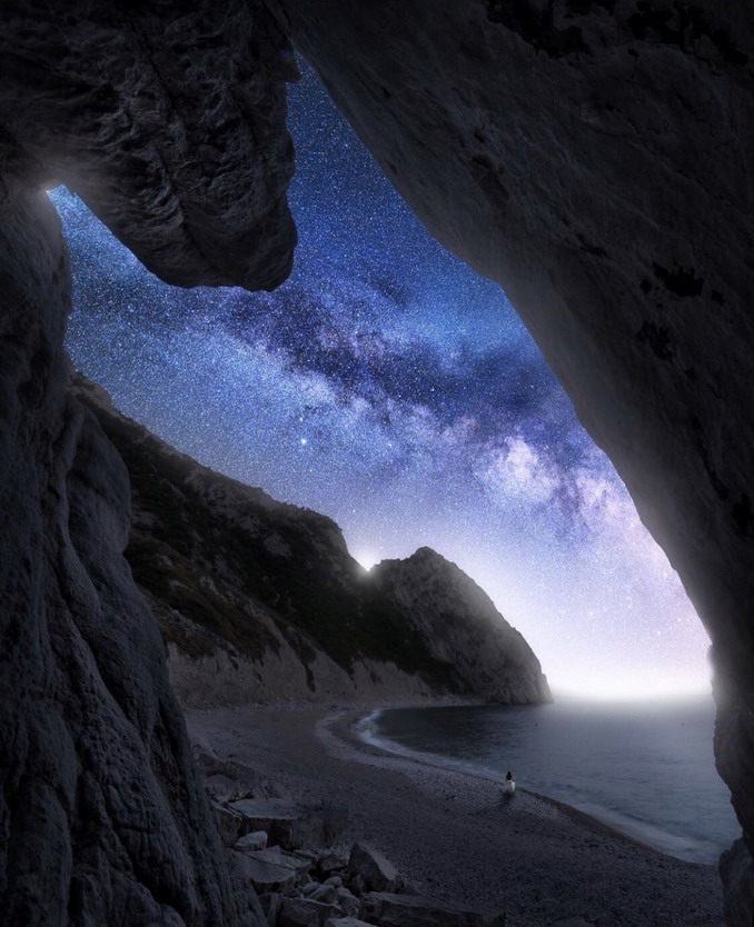 Beach and stars
