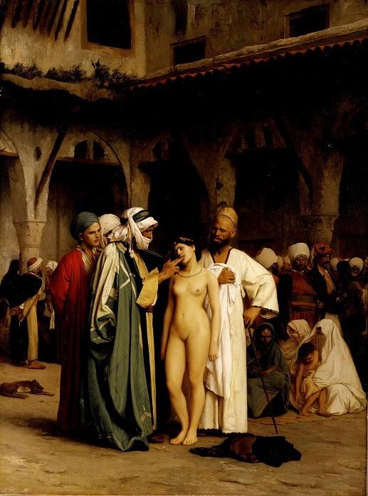 """""""The Slave Market"""" by Jean-Léon Gérôme,1866"""