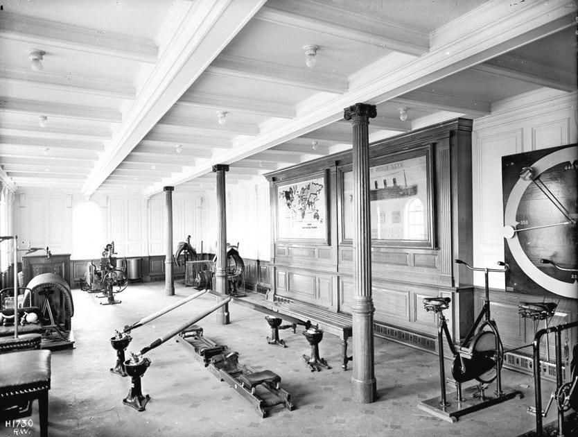 The gym on theTitanic