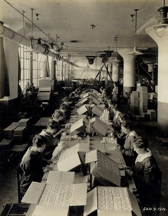 Toothpaste factory, Toronto, Canada,1919