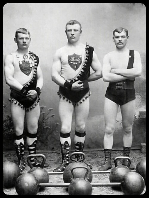 Vintage Weight Lifters