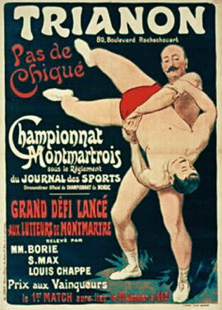 Wrestlers, France, circa1900