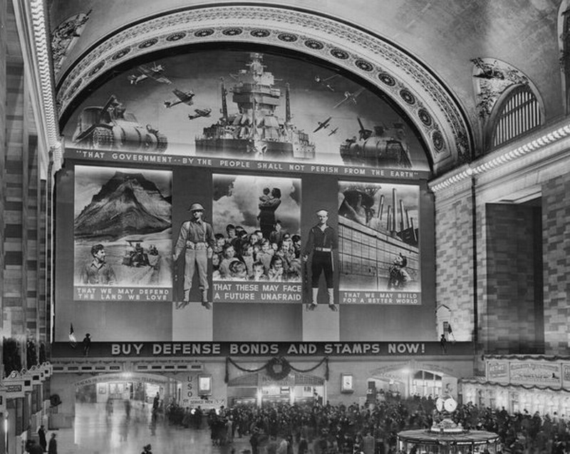Mural at Grand Central Station, NYC, during WWII