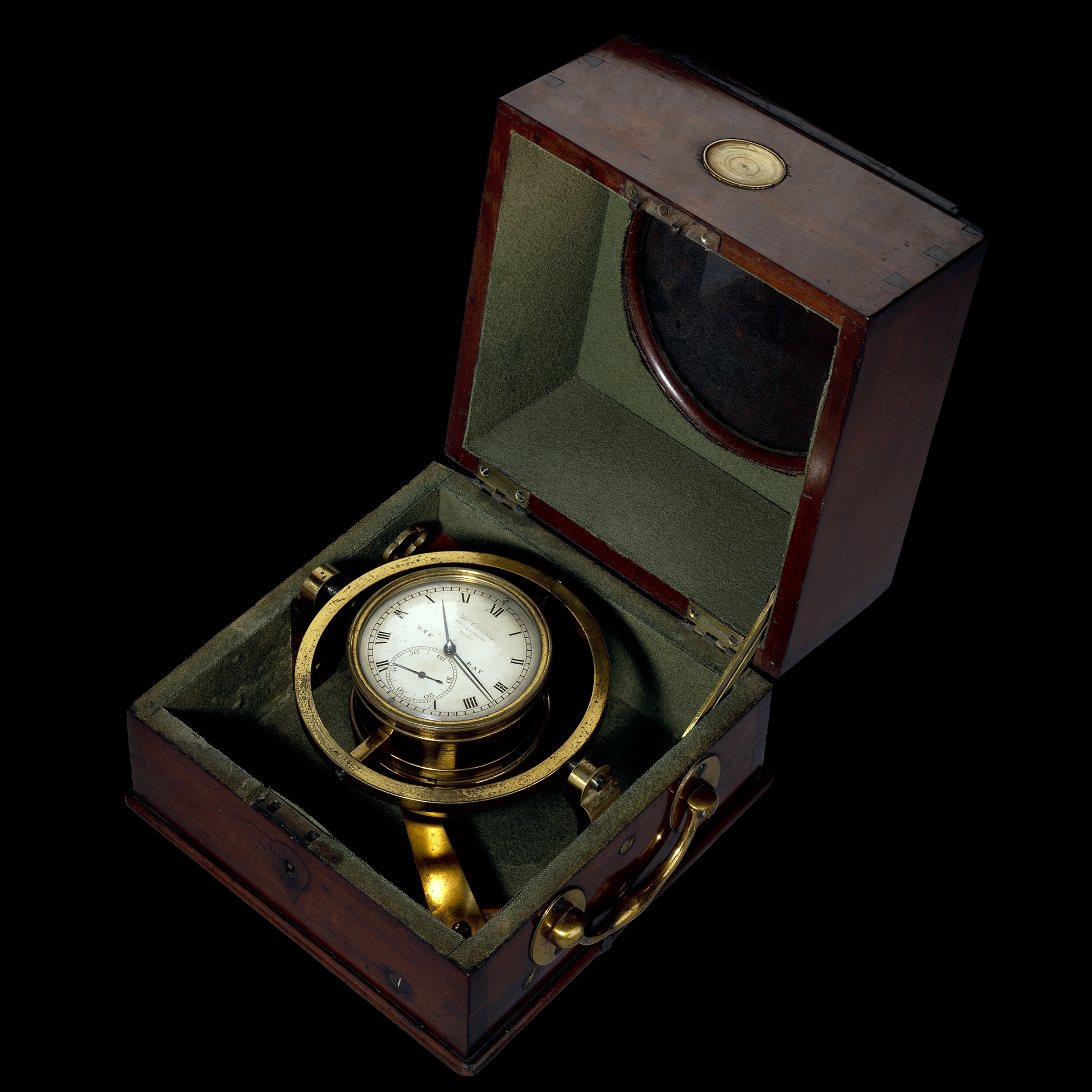 Clock with shock absorbers Charles Darwin brought with him on one of his voyages, 1800s
