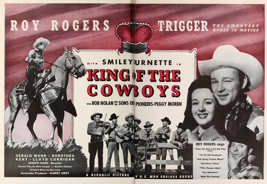 """Roy Rogers in """"King of theCowboys"""""""
