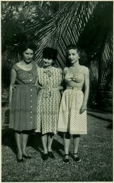 Three women, Florida, 1940s