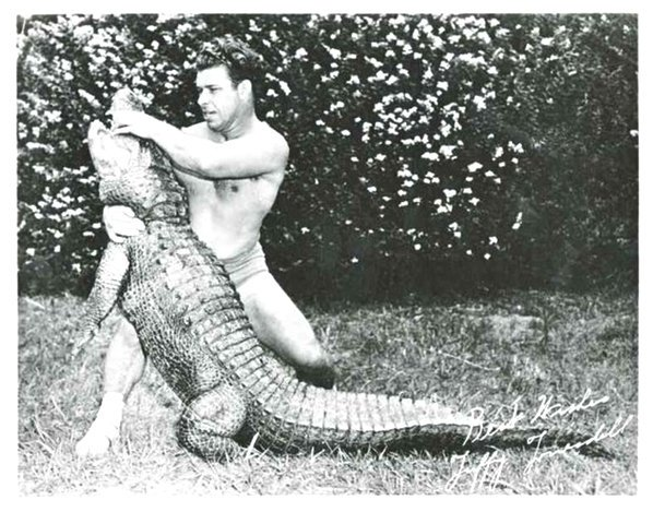 Vintage Gator Rasslin' (Alligator Wrestling)