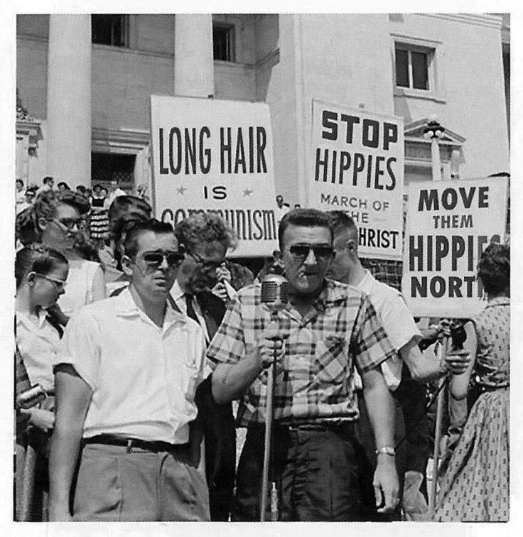 Anti-Hippie Demonstration, 1960s