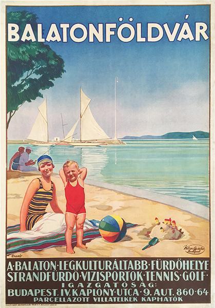 Poster for a Hungarian lake resort, circa1920