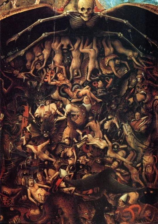 "Detail from Jan van Eyck's ""The Last Judgment"", 1430"