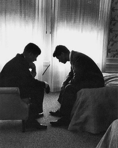 President John F Kennedy and his brother Robert Kennedy, early 1960s