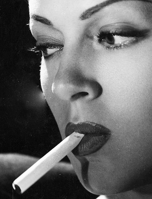 Lana Turner with acigarette