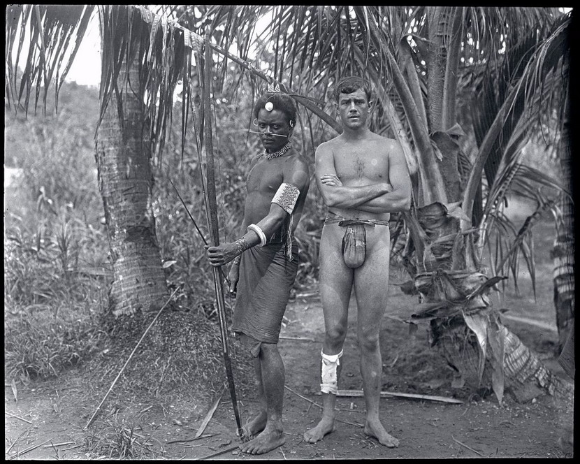 Explorer and Naturalist Martin Johnson in the Solomon Islands, 1910s