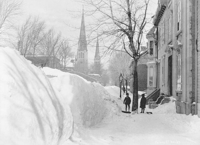 Montreal en hiver, vers1900
