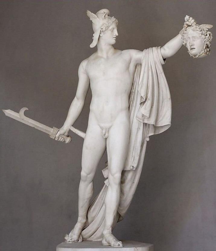 Perseus holding the head ofMedusa