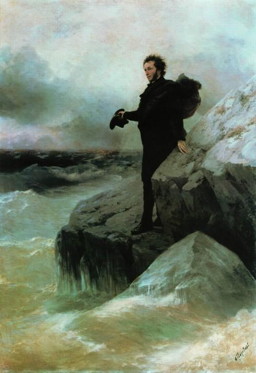 """Pushkin's Farewell to the Black Sea"" by Ivan Aivazovski,1877"