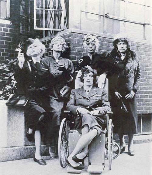 Rolling Stones in drag,1960s