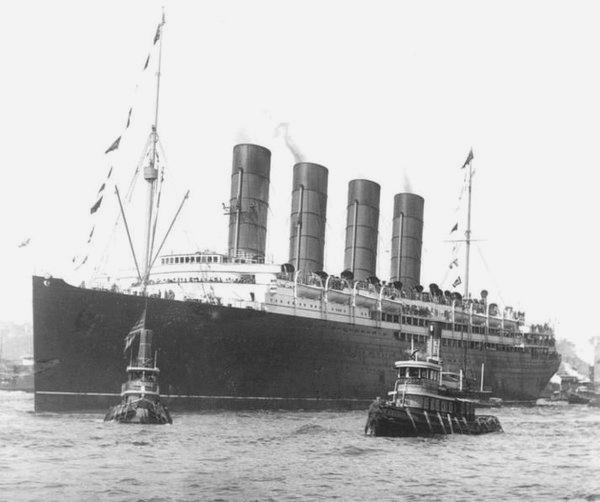 The Lusitania in happier, pre-1915days
