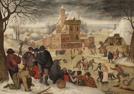 """Winter Landscape with Skaters"" by Pieter Brueghel, 1616"