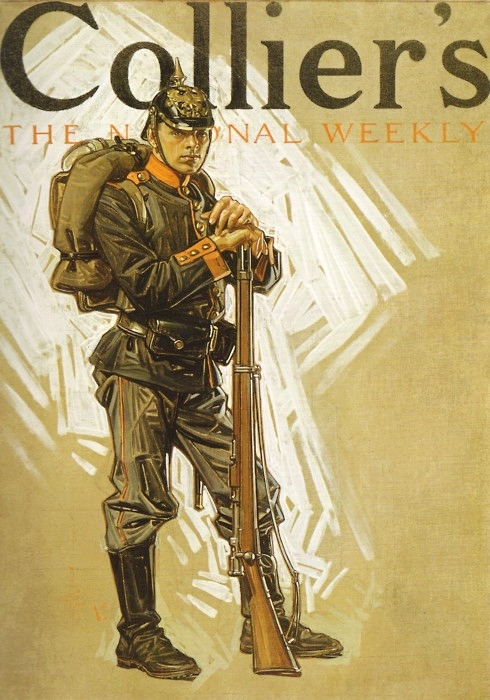Leyendecker illustration on the cover of Collier's, WWI