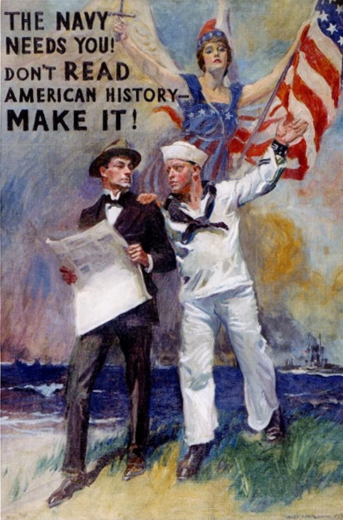 American Navy Recruitment Poster, WWI