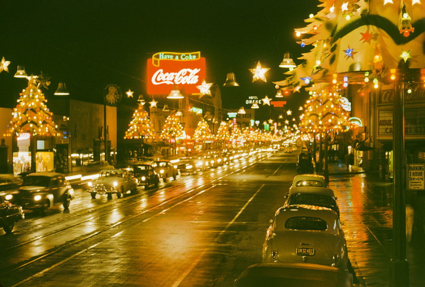 Christmas Lights, Los Angeles,1949