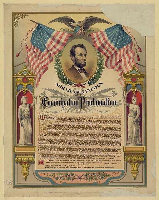 The Emancipation Proclamation, 1860s