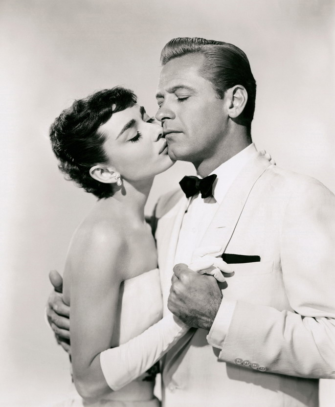 "Audrey Hepburn and William Holden in ""Sabrina"", 1954"