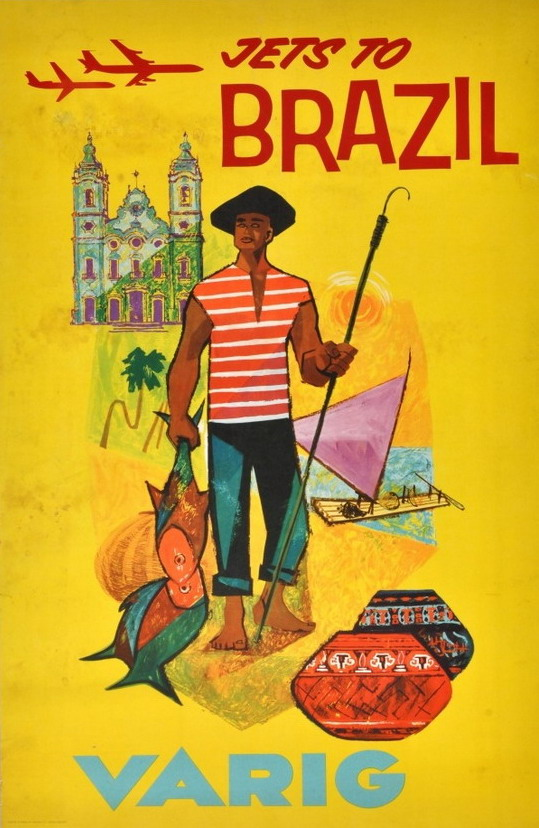 Brazil travel poster, early1960s