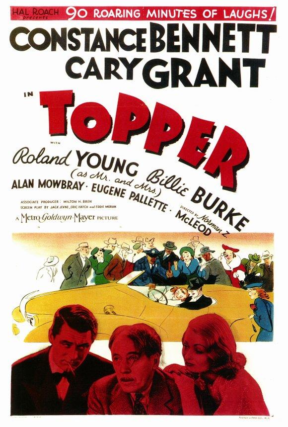 "Constance Bennett & Cary Grant in ""Topper"", 1937"