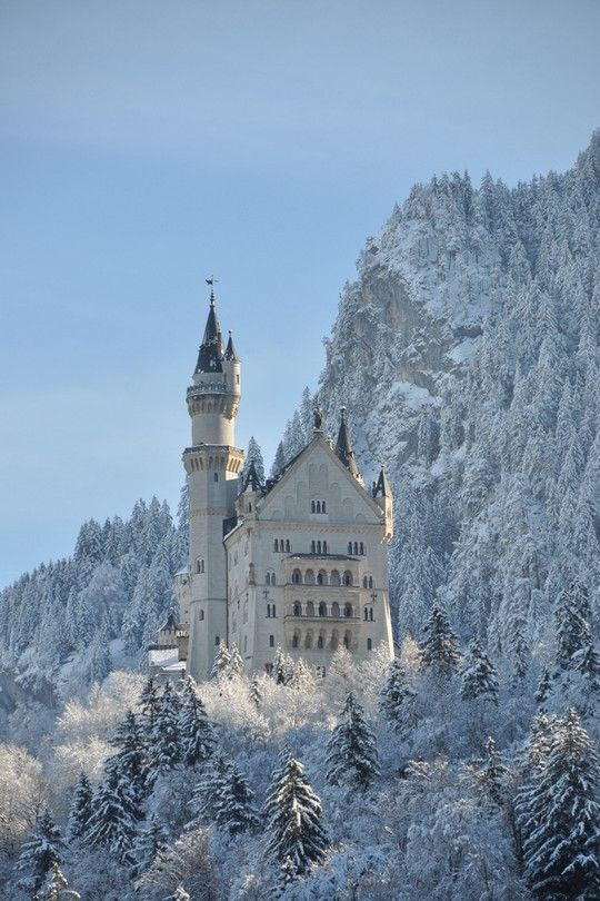 Bavarian castle in winter