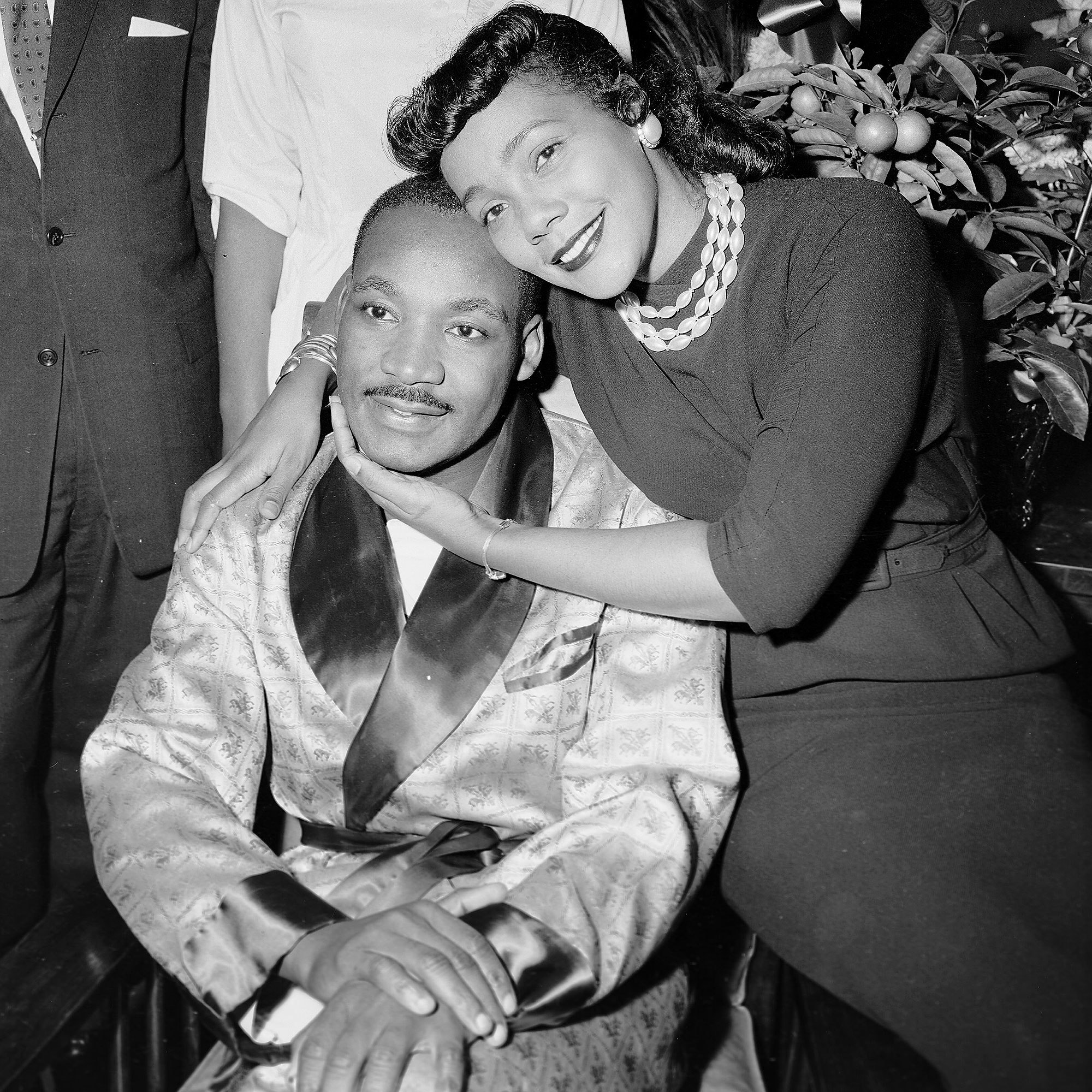 Martin Luther King Jr. and his wife Coretta Scott King