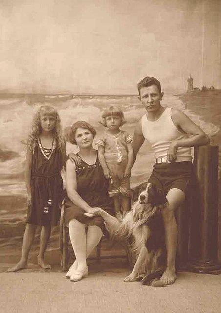 Family photo at the beach, circa1905