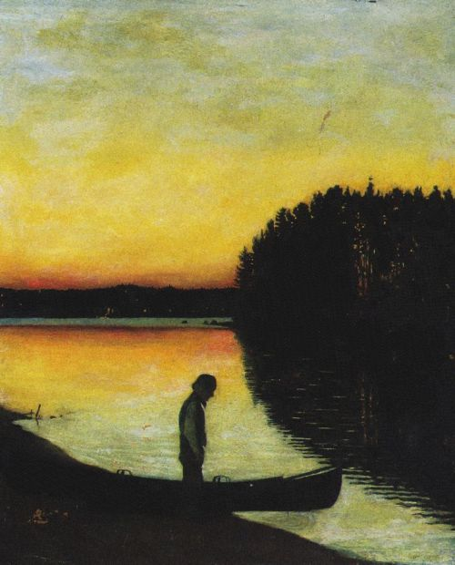 Finnish Elegy - Hugo Simberg , 1895
